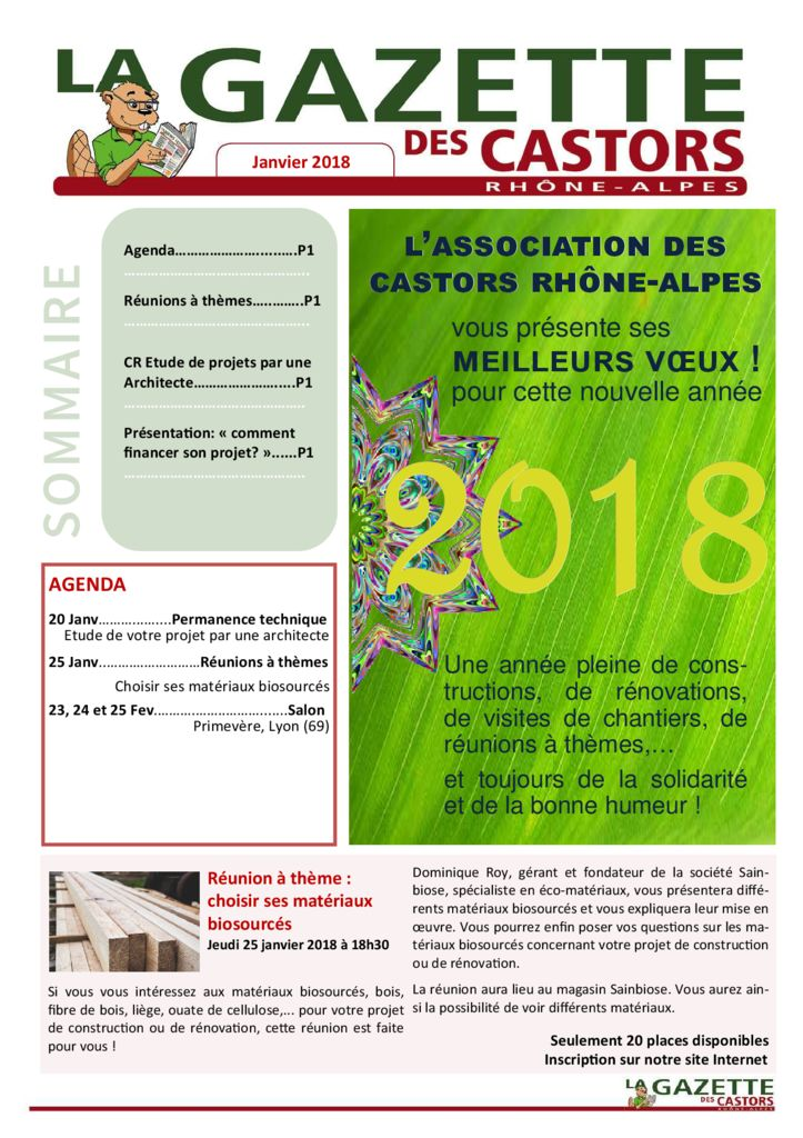 thumbnail of Gazette Janvier 2018